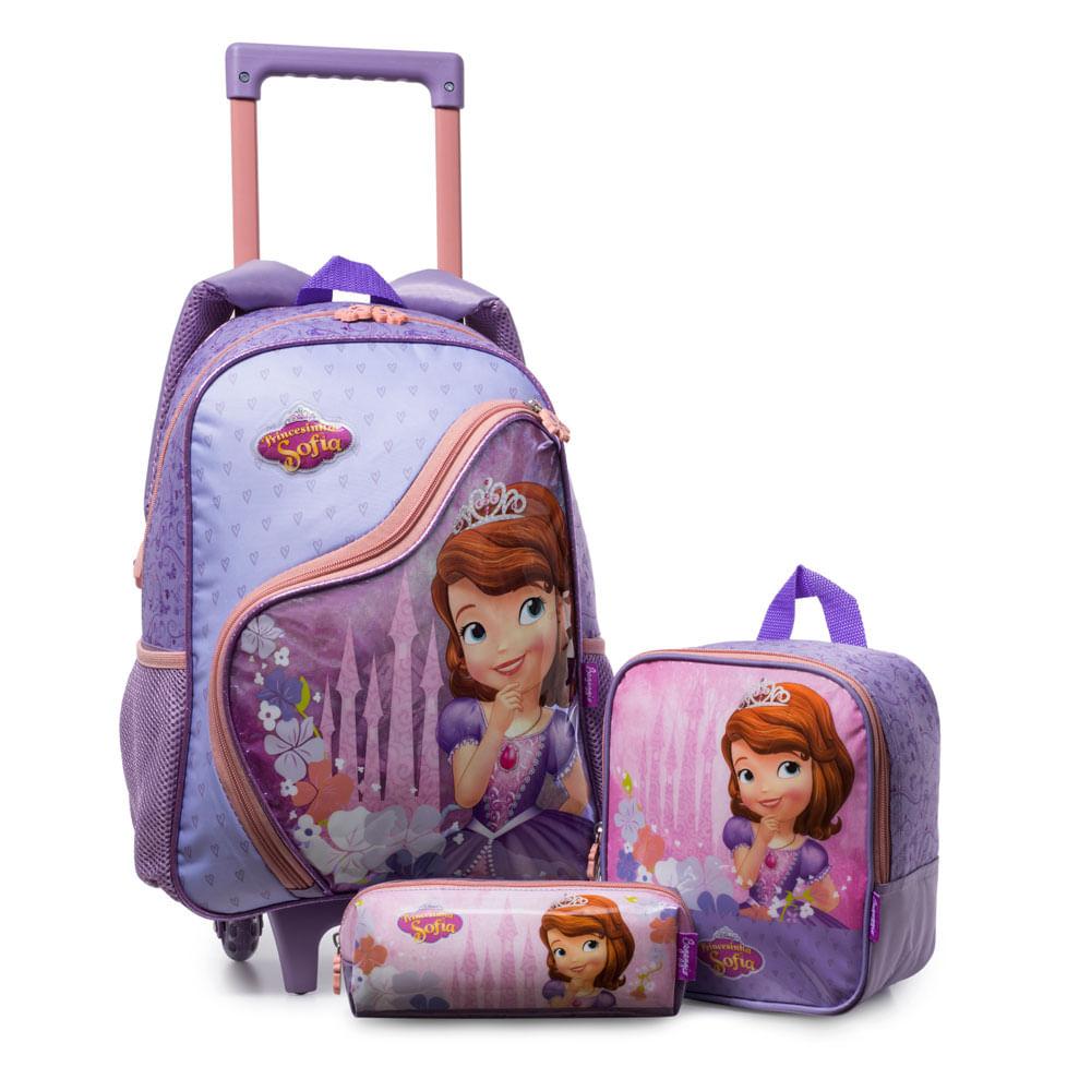 Kit Mochilete Disney Princesinha Sofia 20k Parcele Em Ate 10x