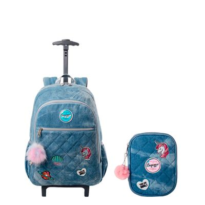 Kit-Mochila-com-rodas-Jeans-Patches-20J