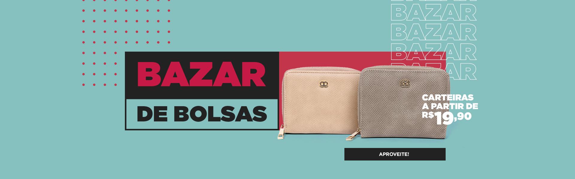 bazar de bolsas - carteiras
