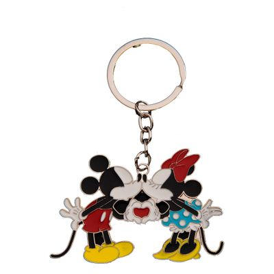 CHAVEIRO-MINNIE---MICKEY-KISS-19Y--PRATA-U4401