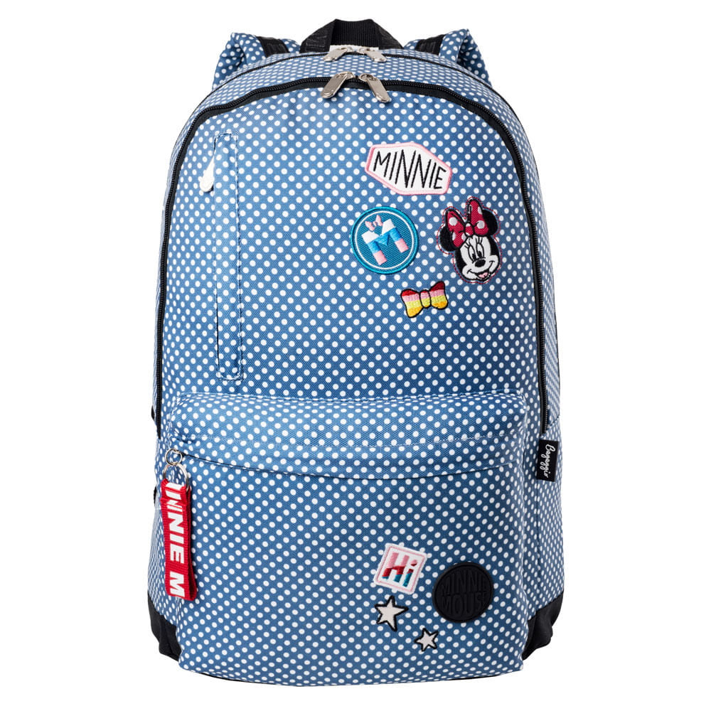 MOCHILA-MINNIE-PATCHES-20J--AZUL-U--------------------------0301