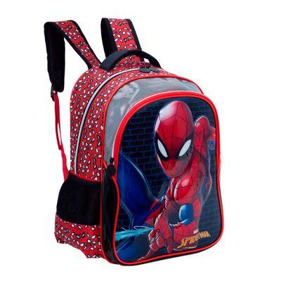 MOCHILA-PREM-SPIDER-MAN-20P--VERMELHO-U---------------------6511