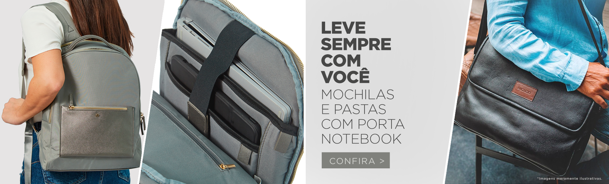MOCHILAS/PASTA P/ NOTEBOOK