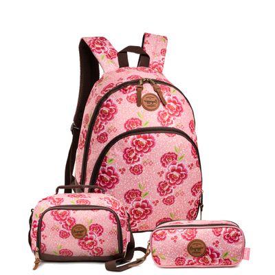 Kit-Floral-Camelia---Mochila-Rosa-